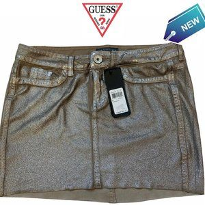 NWT Guess Panarea miniskirt in wolf brown